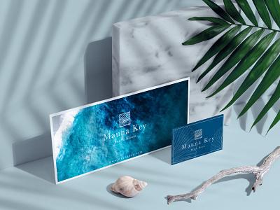 Mauna Key Beach House stationary design branding concept branding and identity hotel branding boutique hotel logotype logo design logodesign design concept clean minimal brand identity branding