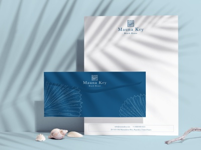 Mauna Key Beach House logodesign hotel branding design branding and identity brand identity boutique hotel branding minimal concept clean