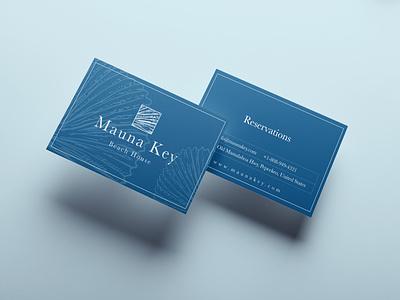 Mauna Key Beach House blues vibe coastal sea ocean blue logodesign hotel branding design branding and identity brand identity boutique hotel branding minimal concept clean