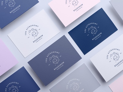 The Astronomy Roadshow branding concept branding and logo business cards wanders of the sky universe stars moon galaxy branding and identity concept branding brand identity