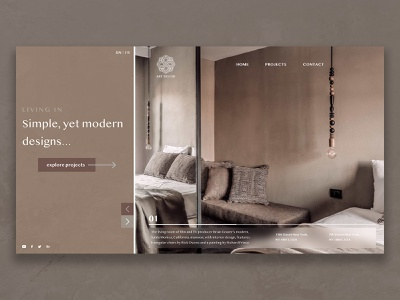 Art Decor I Website concept clean minimal website branding ui web design design webdesign ux