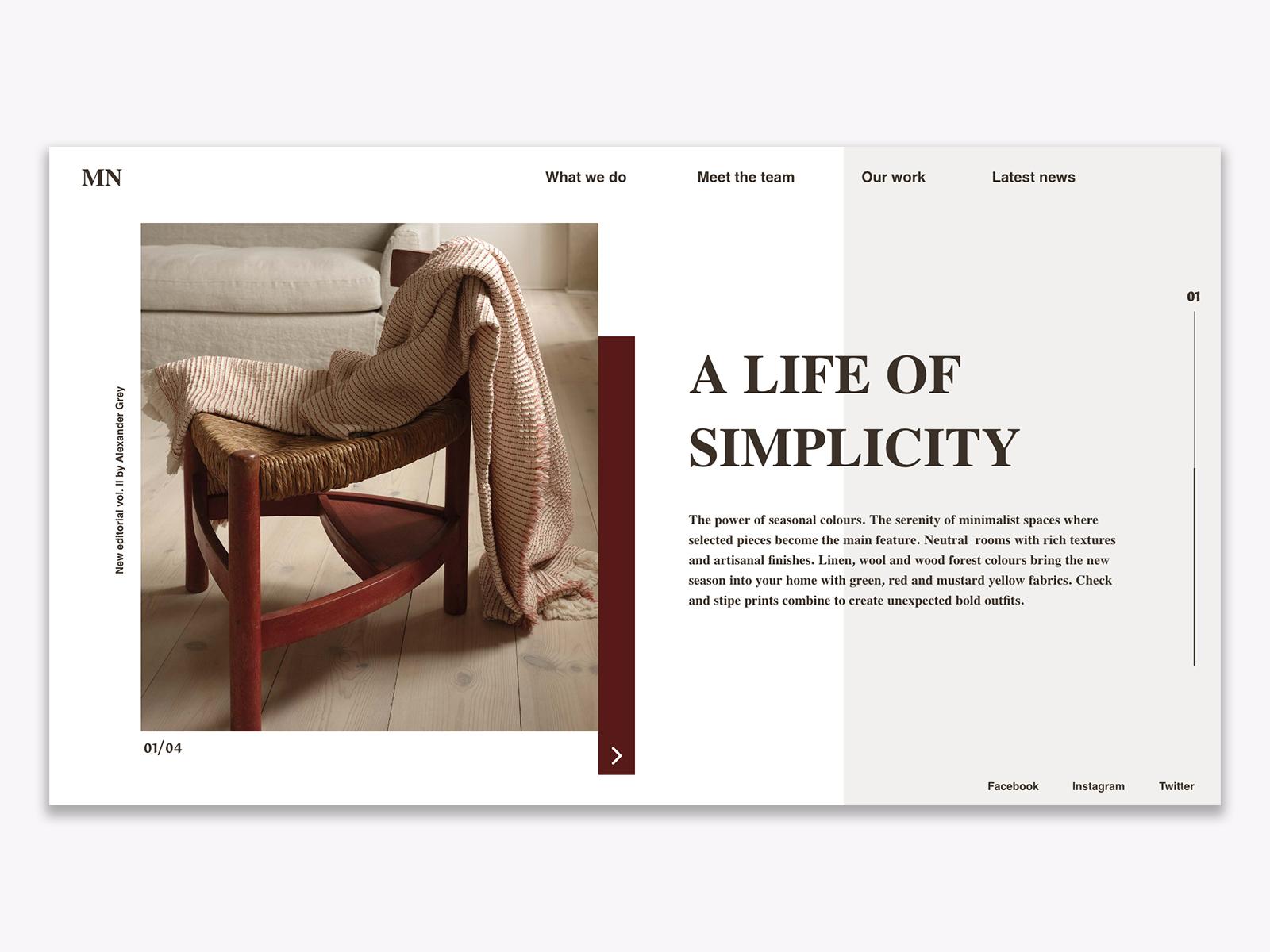 Home Decor I Website Concept By Alicja Surga On Dribbble