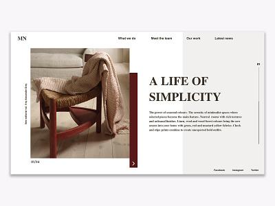 Home Decor I Website Concept furniture website home decor furniture web webdesign ux ui concept website web design minimal clean