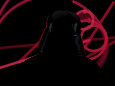 Rogue One — Vader drawing illustration star wars