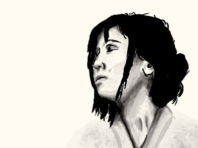 Digital Painting Study photoshop watercolor india ink digital painting painting