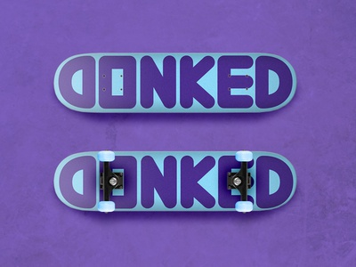 DONKED Universe Purple & Electric Blue skateboard electric blue universe purple brand