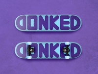 DONKED Universe Purple & Electric Blue