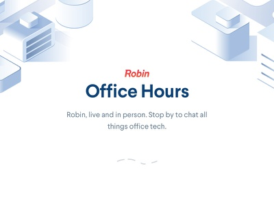 Robin Events Pages office tech conferences events hot desking room scheduling robin