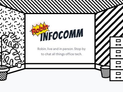 💥Infocomm Landing Page conferences events office scheduling comic books pop art lichtenstein art direction landing page robin
