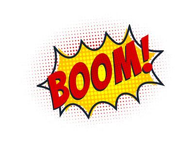 💥Boom! comic books halftones pop art pow bang boom