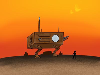 Dune Hopper scifi procreate illustration