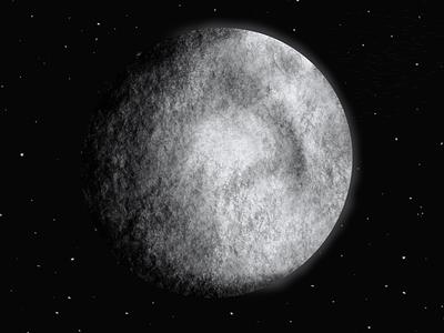🌔 moon procreate illustration