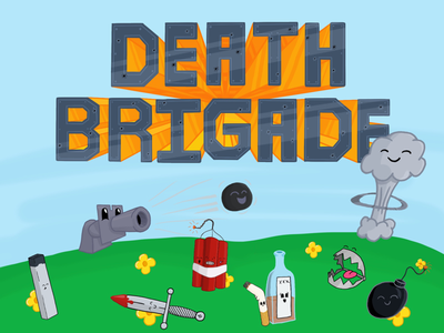 Introducing the Death Brigade™ stickers juxtaposition illustration characters