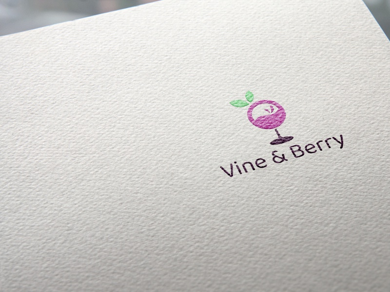 Daily Logo Challenge Day 17 Vine & Berry - Geometric Logo wine bar wine vineyard vine berry vine and berry vine typography dailylogo brand berry berries vector brand identity logo design dailylogochallenge branding logo