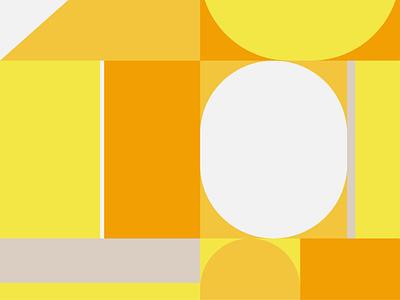 Bauhaus Yellow 01 flat art vector illustration graphic design design