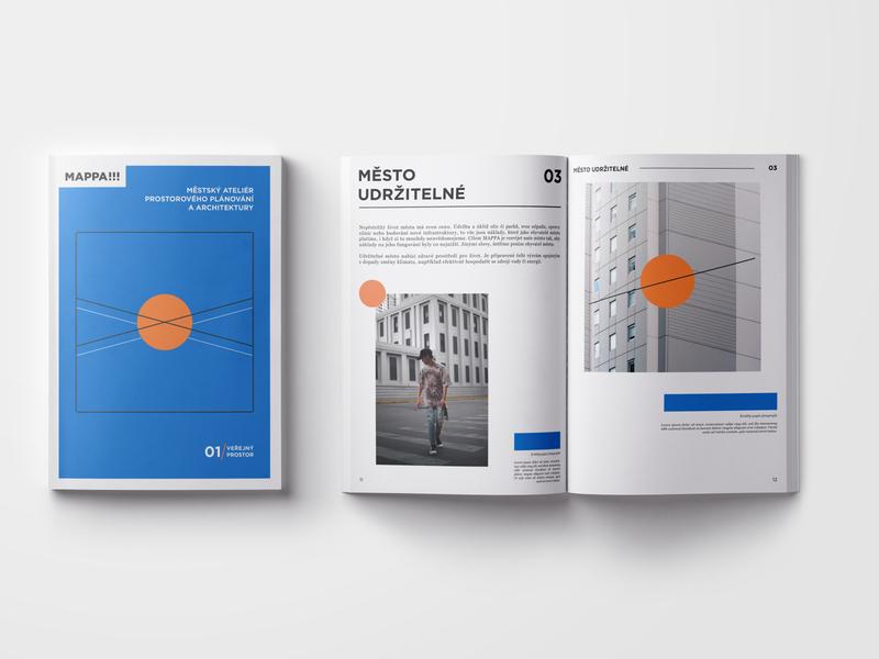 architectural magazine architecture magazine catalog typography czech ui illustrator illustration flat vector minimal clean design