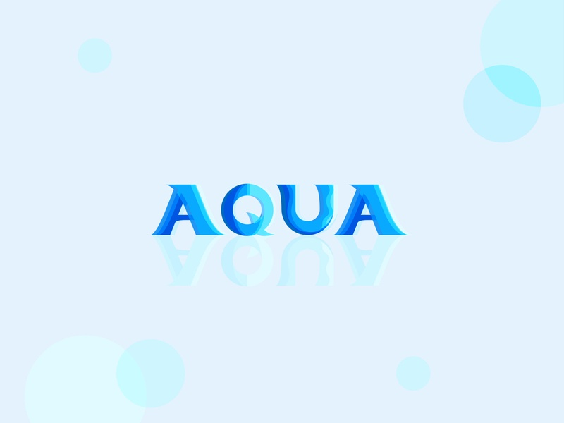 Aqua - lettering lettering typo blue aquarelle water aqua branding typography art typogaphy illustrator illustration flat vector minimal clean design