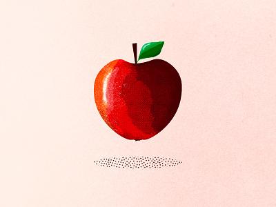 Apple brushes brush nature web czech flat illustration minimal clean design photoshop psd drawing apple