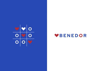 Benedor logo concept logotype brand logo czech ui illustrator vector flat illustration minimal clean design
