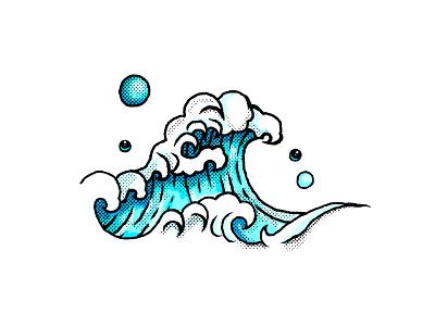 Wave illustration water ui nature ocean sea wave photoshop illustrator vector flat illustration minimal clean design