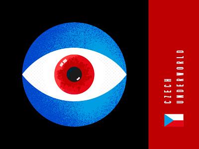 Czech Underworld podcast ceskepodsveti cam eye czechunderworld czech photoshop illustrator vector flat illustration minimal clean design
