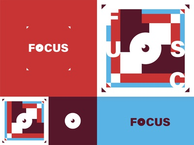 FOCUS - Color combination, unigeo graphic