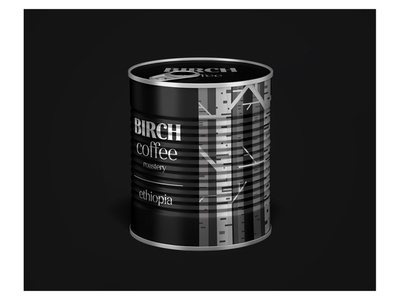 Birch Coffee roastery ethiopia blackandwhite packing coffee cup weekly warm-up warmup illustration vector flat clean minimal design