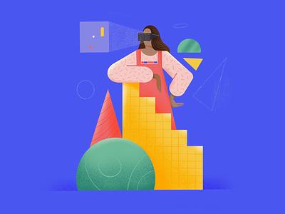 VR 2020 india mumbai ui ai geometric procreate vr ar illustration