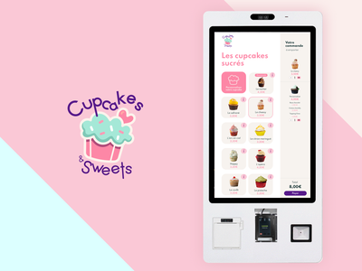 Cupcake and sweets ux ui logo cupcakes touchscreen branding ui design ux ui design