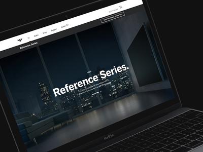 VIZIO Reference Series 2015 - 01 digital web we are envoy envoy vizio responsive website zach travis zack travis interface tv