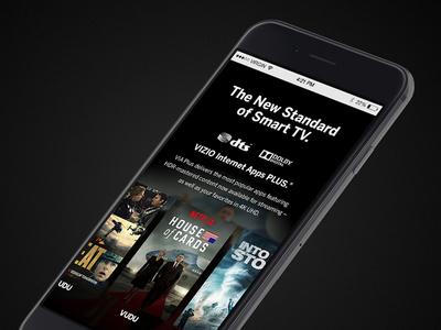 VIZIO Reference Series 2015 - Mobile tv interface zack travis zach travis website responsive vizio envoy we are envoy mobile iphone
