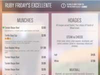 WISDOM - Bar & Grill Menu Theme