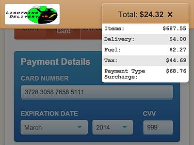 WISDOM Checkout - Order Total Breakdown mobile responsive menu checkout payment web app