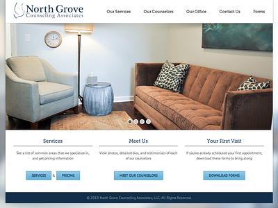 North Grove Counseling Associates website web design wordpress responsive blurred background modern slideshow counseling