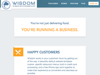 Wisdom Restaurant Delivery Software