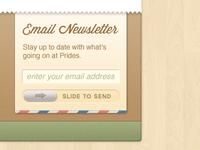 Prides Deli - Email Signup