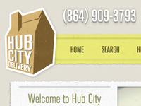 HubCityDelivery.com Redesign