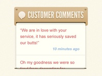 WISDOM - Customer Comments