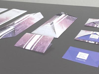 Klassy Folding Brochure cards ux design print brochure