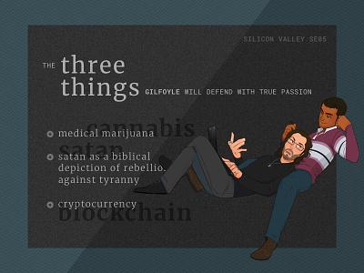 Silicon Valley : Bertram Gilfoyle's three things illustrations gilfoyle three things silicon valley