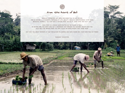 From the heart of Bali web design notebooks handcrafted indonesia photograhy graphic design