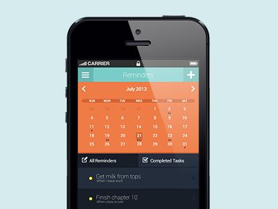 Reminder App ui clean minimal design website design flat simple user interface website app ios