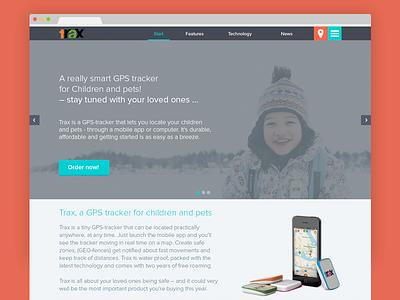 Landing page minimal landing page flat colors web design photoshop ui ui kit