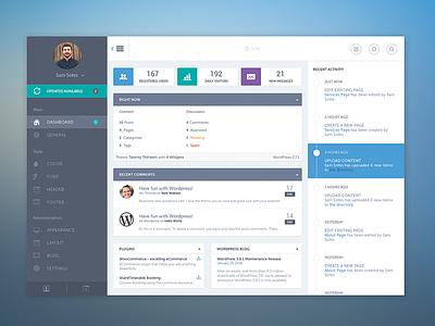 Wordpress Dashboard theme dashboard wordpress minimal ui ux ui kit flat clean