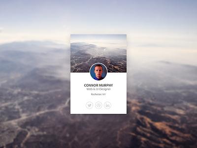 Profile Card Rebound ui ux profile minimal ui kit