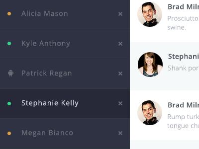 HipChat Redesign hipchat flat minimal dashboard ui ux ui kit design