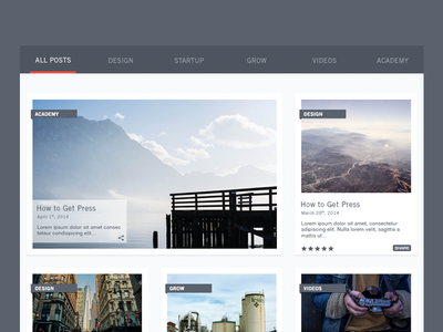 Blog Revamp minimal clean ui ui kit simple blog design blog