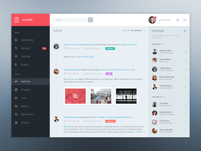 Dashboard To-Do flat minimal ui uikit dashboard simple interface clean to do widget activity icons