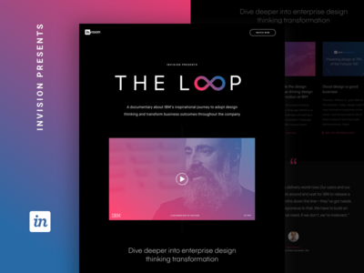 THE LOOP, a documentary on IBM's design transformation layout landing web invision design systems design thinking ibm modern website documentary