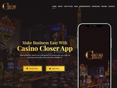 Casino Landing hero ui design psd design hero banner landing page
